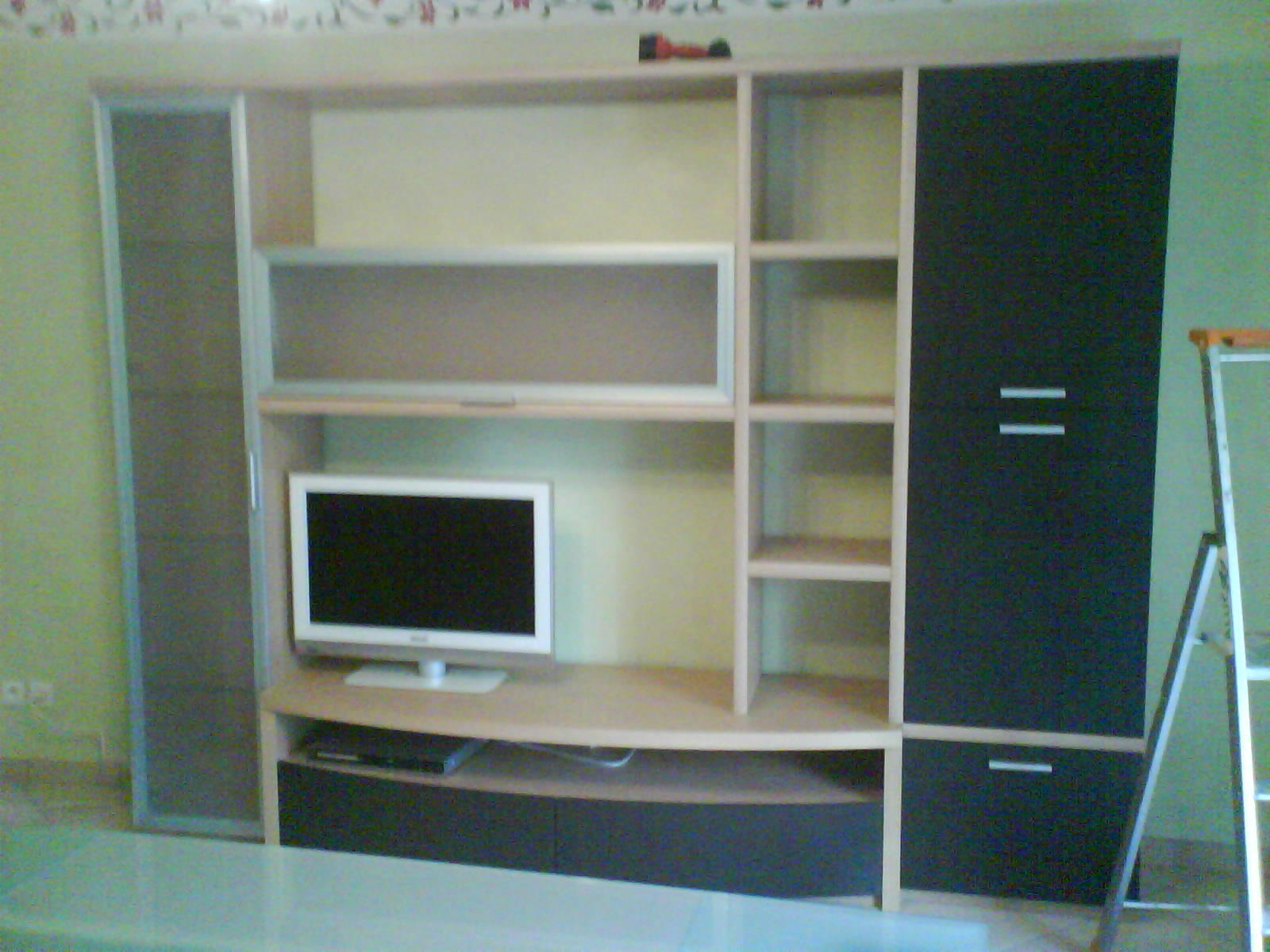 meuble tv de salon dressing herv menuiserie pose. Black Bedroom Furniture Sets. Home Design Ideas